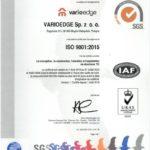 Certyfikat ISO 9001 EN