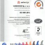 Certyfikat ISO 9001 PL